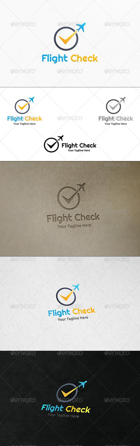 GraphicRiver Flight Check Logo Template 7893527