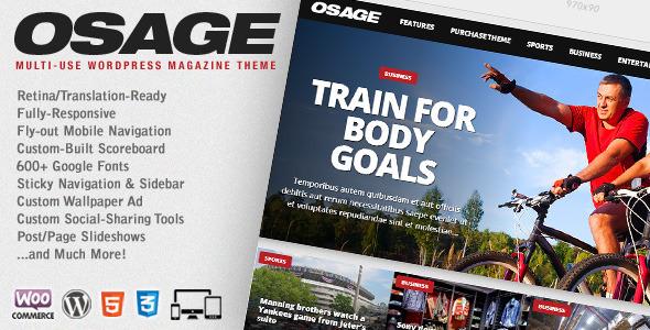 ThemeForest Osage Multi-Use WordPress Magazine Theme 7790181