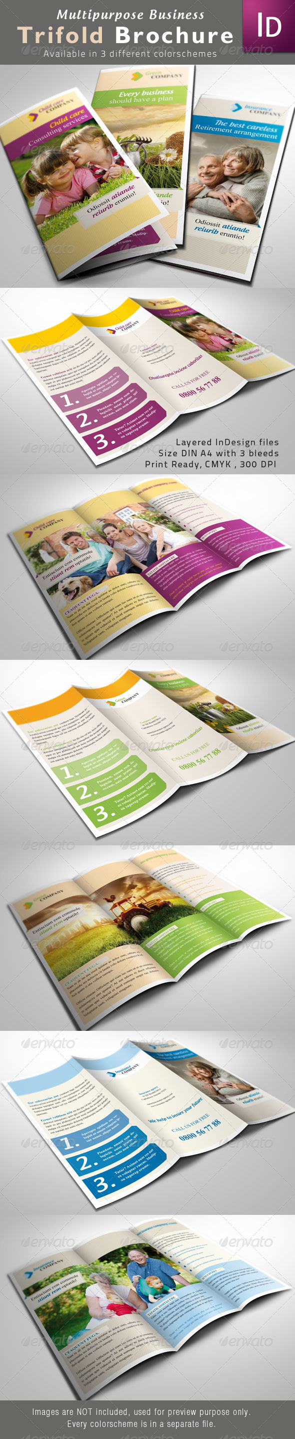 Multipurpose Trifold Brochures - Corporate Brochures