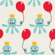 Seamless Birthday Pattern with Cute Octopus - GraphicRiver Item for Sale