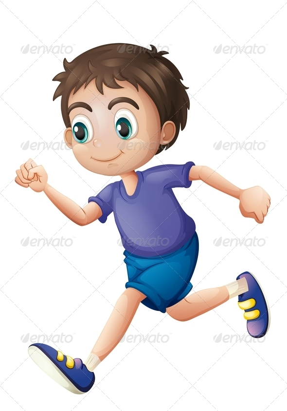 GraphicRiver Running Boy 7893678