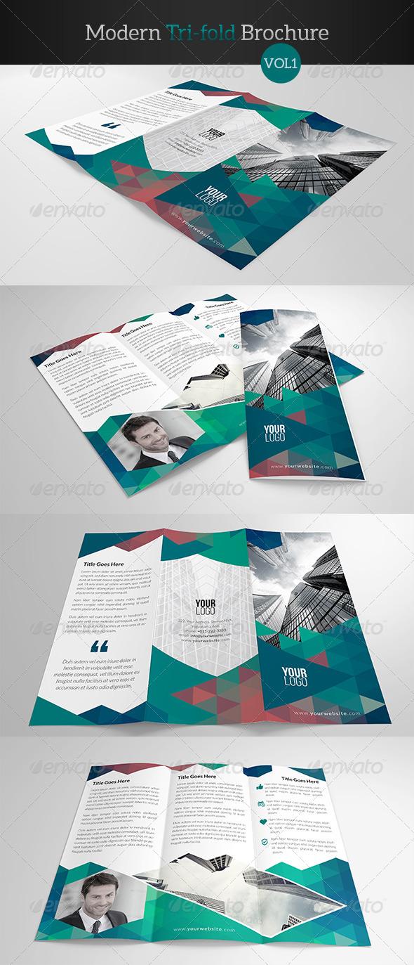 GraphicRiver Modern Trifold Brochure 7893680