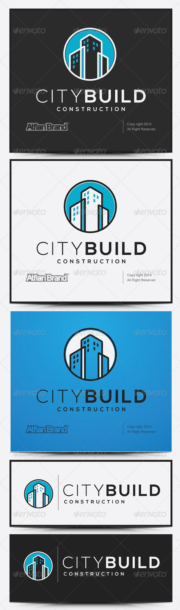 GraphicRiver City Build Logo 7893750