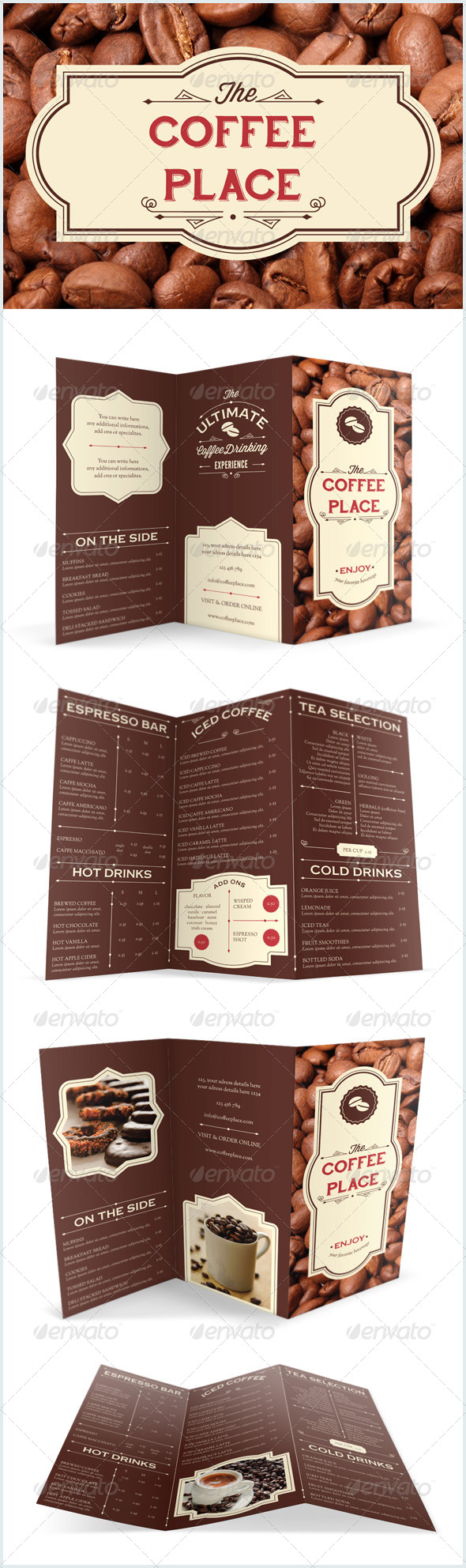 GraphicRiver Coffee Place Brochure Menu 7890373