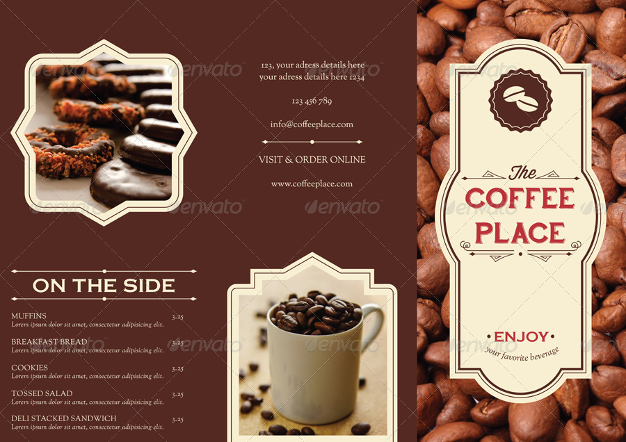 Coffee Place Brochure Menu By 3eka Graphicriver