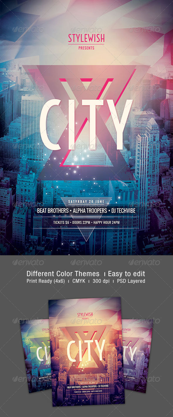 GraphicRiver City Flyer 7893824