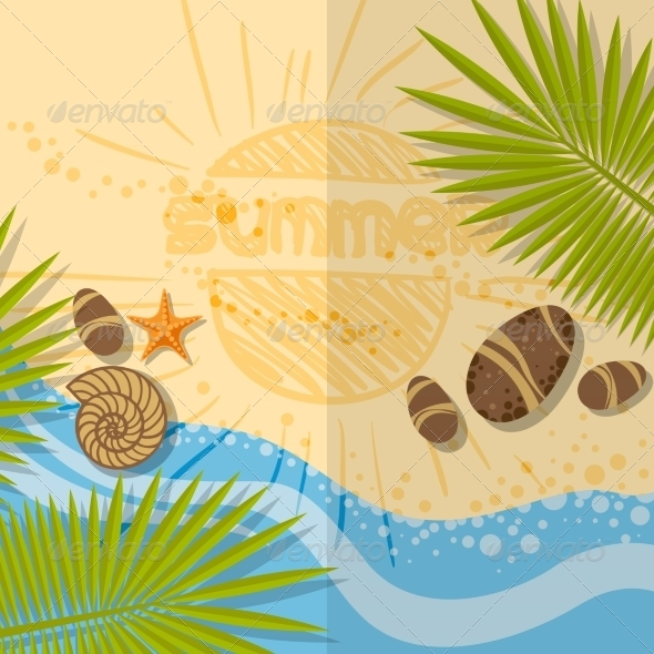 GraphicRiver Summer Beach Background 7893865