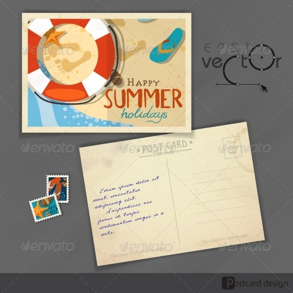 Old Postcard Design Template
