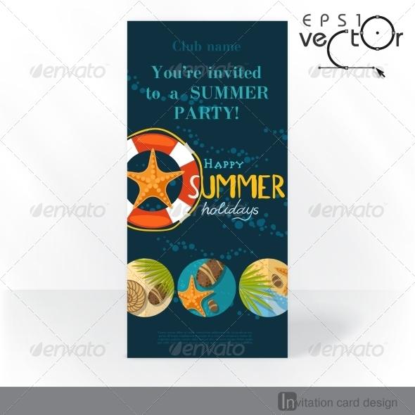 GraphicRiver Party Invitation Card Design Template 7893878