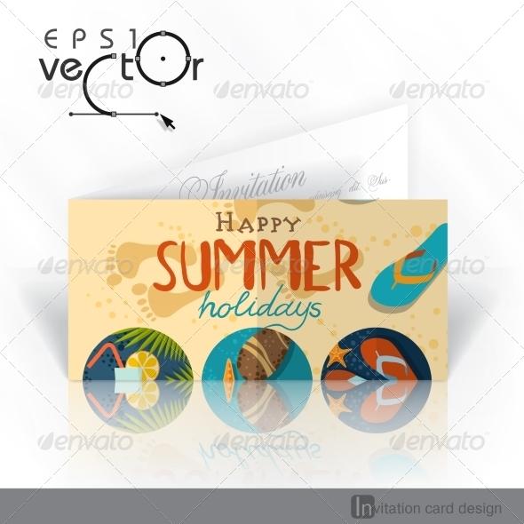 GraphicRiver Invitation Card Design Template 7893880