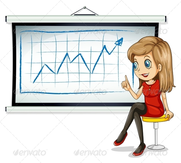GraphicRiver Businesswoman with Chart 7893907