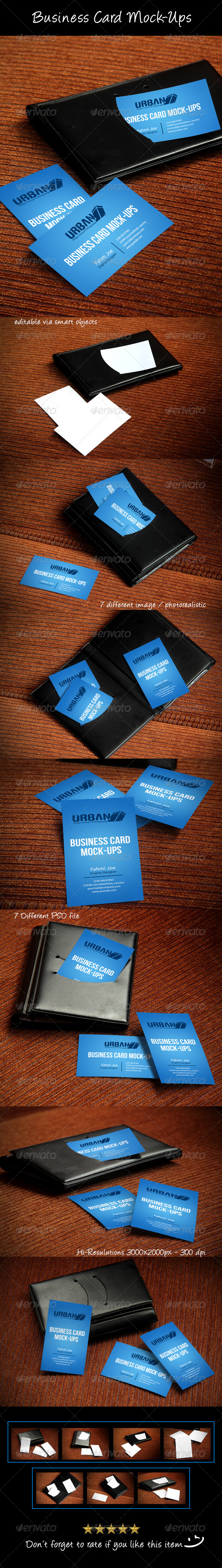 GraphicRiver Business Card Mock-Ups 7879544