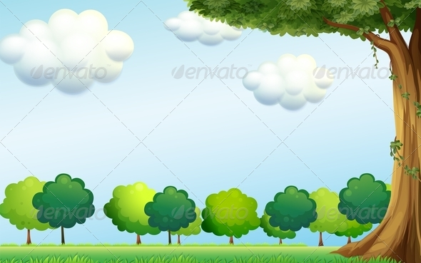GraphicRiver Clear Blue Sky and Trees 7894082