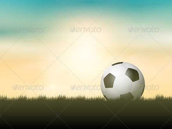 GraphicRiver Football in Grass 7894186