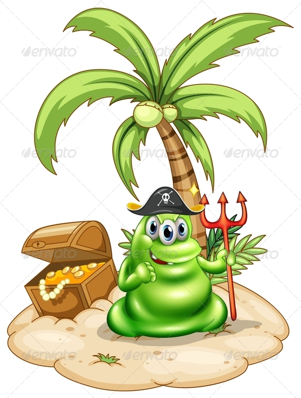 GraphicRiver Pirate Monster on Island 7894194