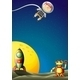 Astronaut and Robot in Outerspace - GraphicRiver Item for Sale