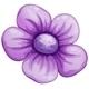 Violet Flower - GraphicRiver Item for Sale