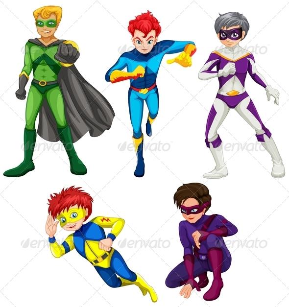 Five Superheroes