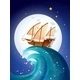 Ship on Giant Waves - GraphicRiver Item for Sale