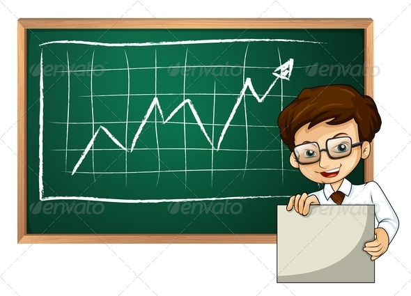 GraphicRiver Man with Empty Board in Front of Chart 7894313