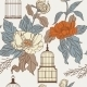 Pattern with Birdcages and Leaves - GraphicRiver Item for Sale