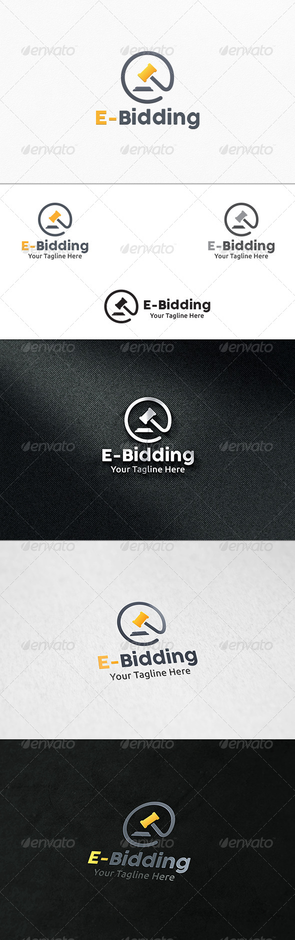 GraphicRiver E- Bidding Logo Template 7894592