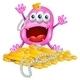 Download Vector Monster with Treasure