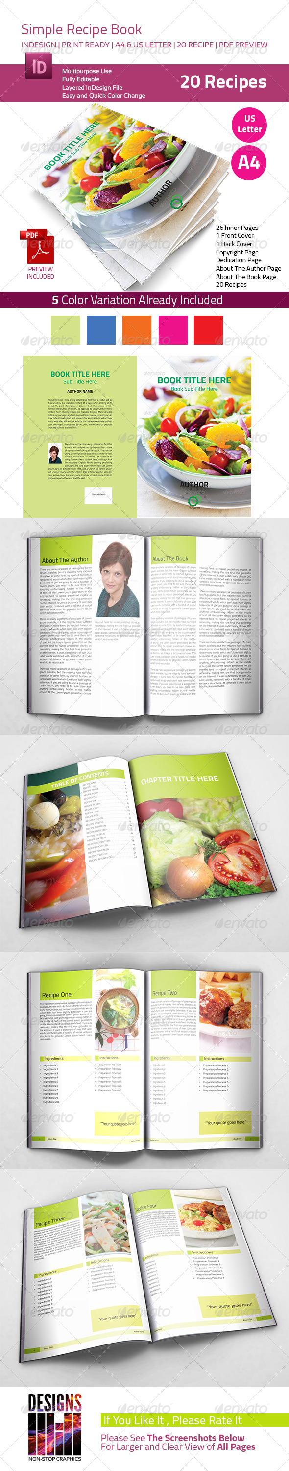 GraphicRiver Recipe Book 7894706
