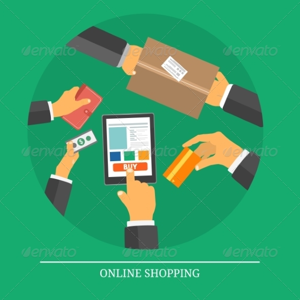 GraphicRiver Online Shopping Concept 7894721