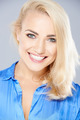 Beautiful happy blond woman with a joyful smile - PhotoDune Item for Sale