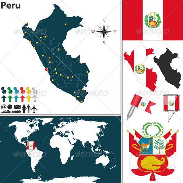 GraphicRiver Map of Peru 7895535