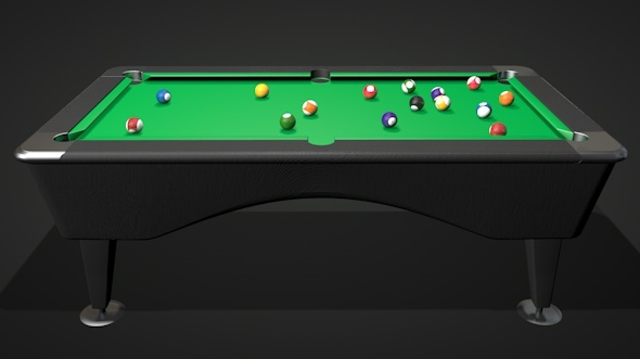 Pool Table and Balls - 3DOcean Item for Sale
