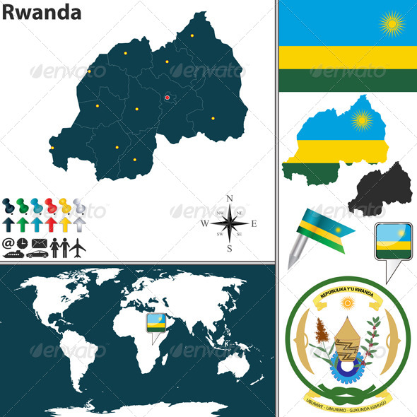 GraphicRiver Map of Rwanda 7895598