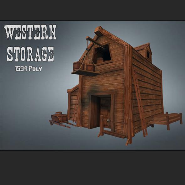 Western Storage - 3DOcean Item for Sale