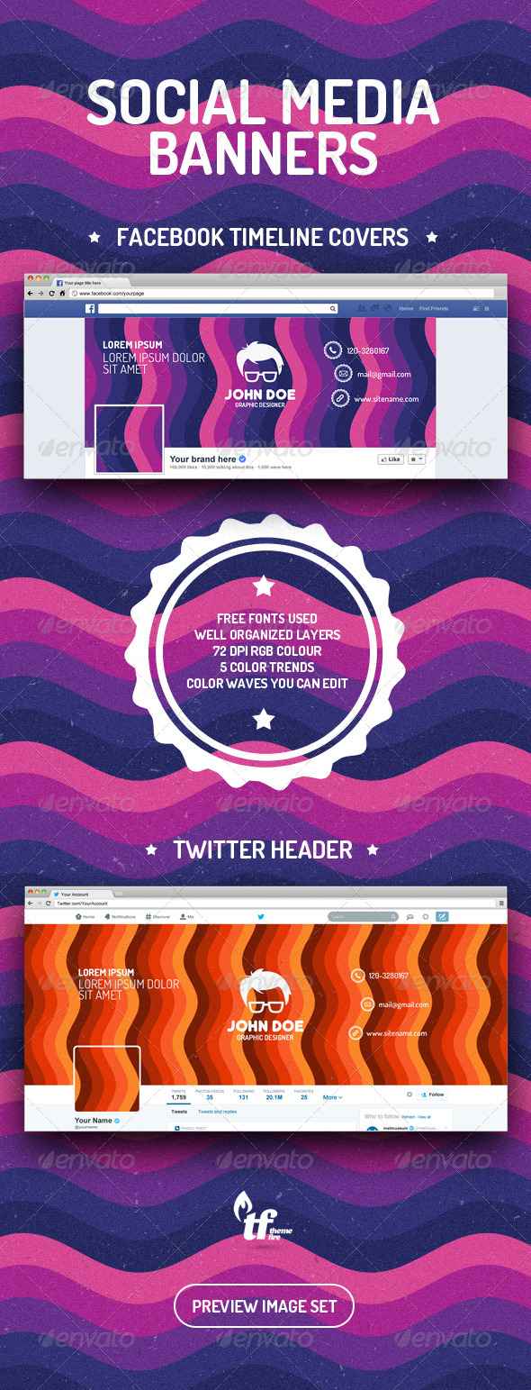 GraphicRiver Facebook Timeline Covers and Twitter Header 7896008