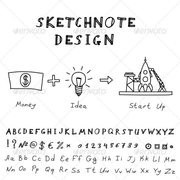GraphicRiver Doodle Start Up Design 7896029