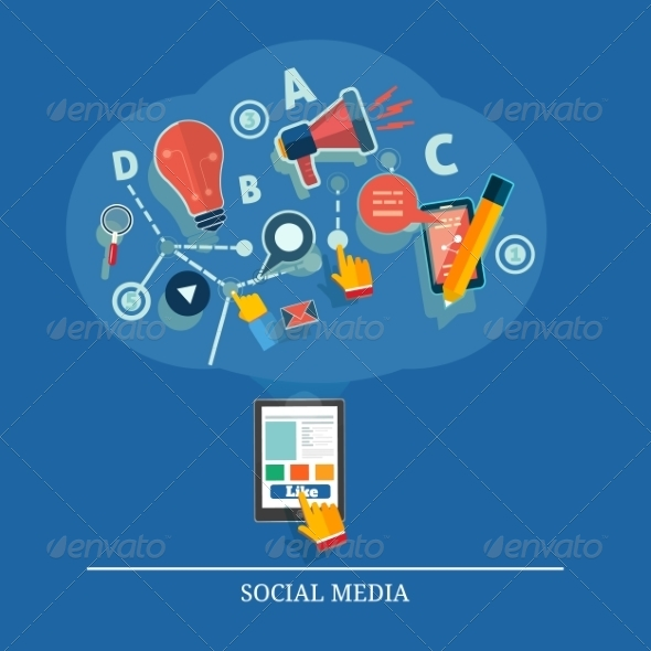 GraphicRiver Social Media Concept 7896232