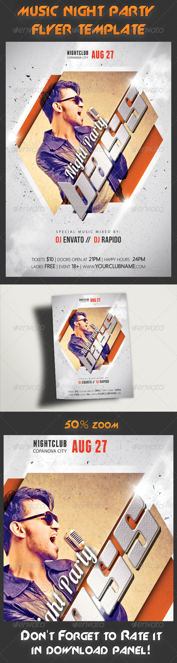 GraphicRiver Music Night Party Flyer Template 18 7896363