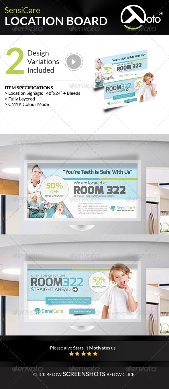 GraphicRiver SensiCare Medical Dental Health Location Board 7896487