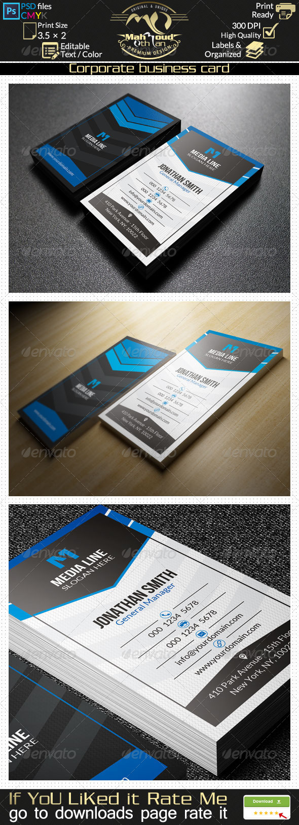 GraphicRiver Corporate Business Card 21 7896486