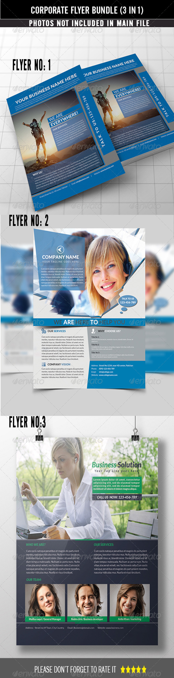GraphicRiver Corporate Flyer Bundle 3 in 1 7888818