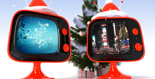 After Effects Project - VideoHive Christmas retro TV 806774