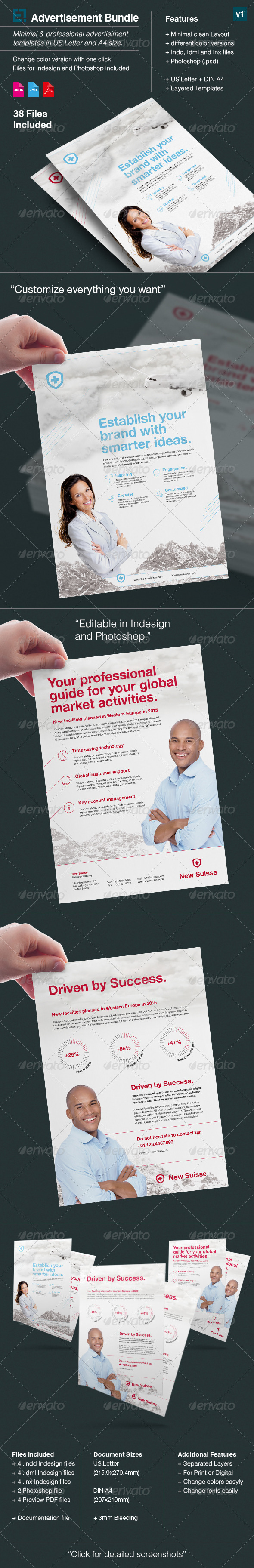 GraphicRiver Bundle Corporate Adverts US Letter A4 v3 7897274
