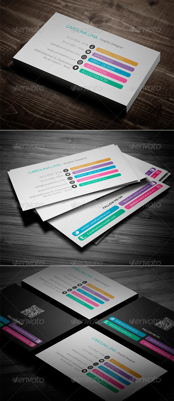 GraphicRiver Creative Designer Business Card Vol 05 7897313