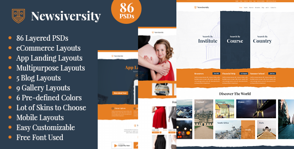 ThemeForest Newsiversity PSD 7811399