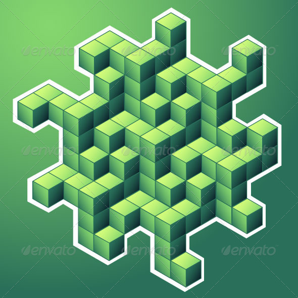 GraphicRiver Isometric Cubes 7897458