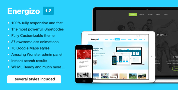 Energizo | Premium Responsive Multi-Purpose Theme - Corporate WordPress