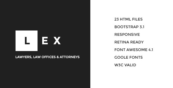 ThemeForest LEX Lawyers Law Offices & Attorneys HTML 7897667