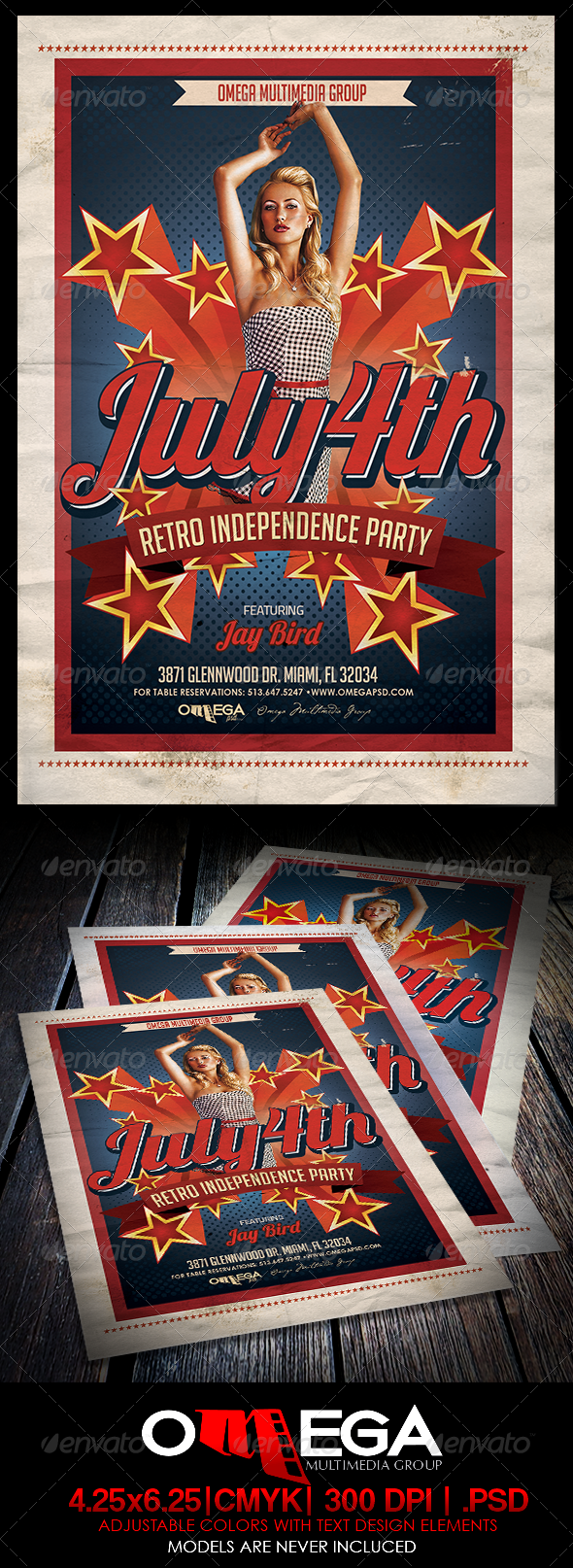 GraphicRiver July 4th Retro Independence Party 7899650