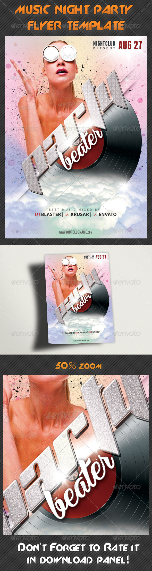 GraphicRiver Music Night Party Flyer Template 19 7899651